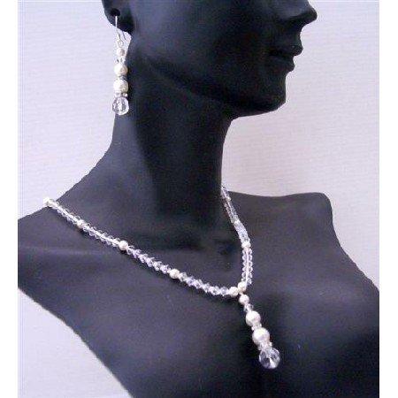 BRD473  Custom Bridal Flower Girl Bridemaides Swarovski Clear Crystals White Pearls