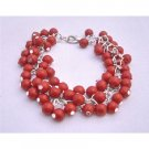 TB663  Tiny Coral Beads Bracelet Multi Coral Beads In Beautiful Gorgeous Bracelet