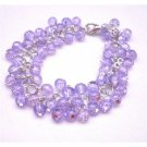TB676  Voilet Multi Beads Bracelet Affordable Voilet Bead Bracelet