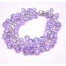 TB676  Voilet Multi Beads Bracelet Affordable Voilet Bead Bracelet