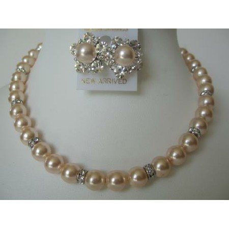 BRD310  Fashion Jewelry Handcrafted RIch Pearls Genuine Swarovski Pearls Bridal Mother Jewelry