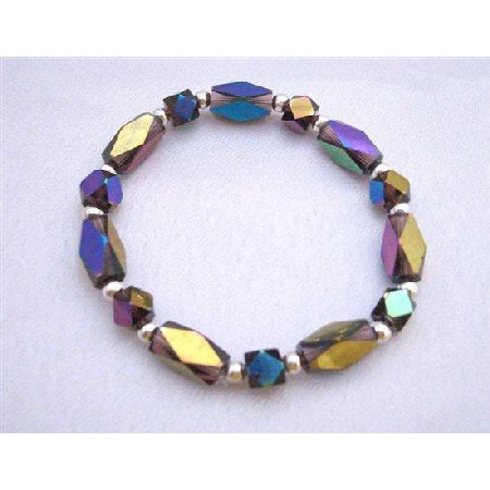 TB610  Gorgeous New Beads In Geometrical Shaped Cuboids & Bicone Shaped Beads