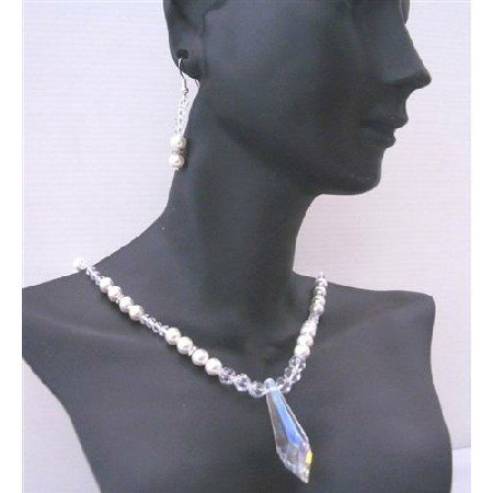 BRD457  Bridal Bridemaides Handcrafted Genuine Swarovski Clear Crystals & White Pearls