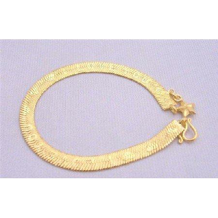 TB214  Love You GOld Plated Bracelet Very Sleek Dainty w/ Heart & word Love YouLong Bracelet