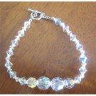 TB393  Irridescent Crystals AB Swarovski Cryrstal Bridal Handcrafted AB Crystals Bracelets