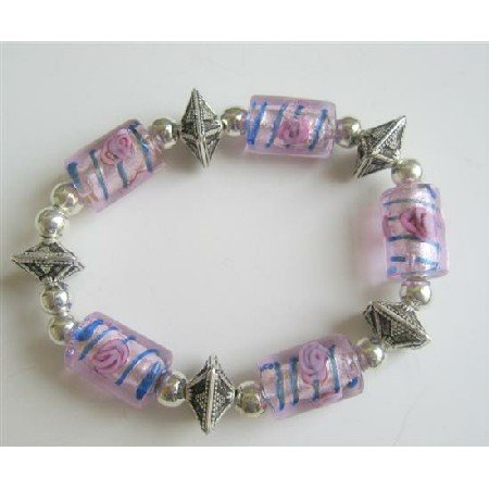 TB549  Exclusive Traditional Ethnic Millefiori Bracelet Stretchable Bracelet