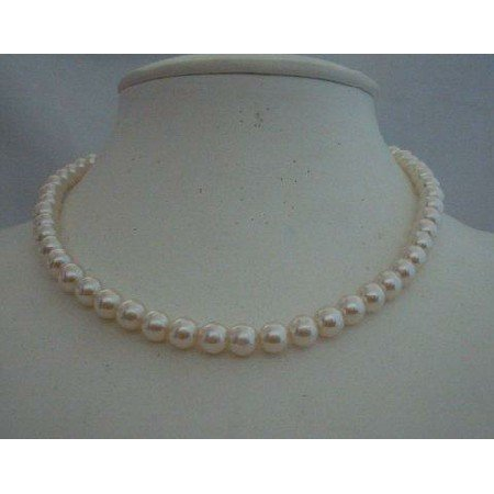 U057  Necklace Cultured Pearls Choker Necklace