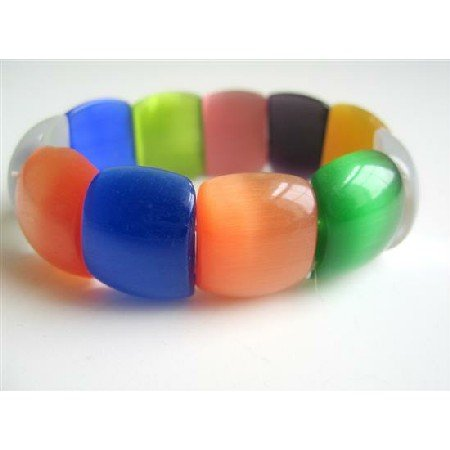 TB539  Colorful Stunning Millifiori Beads Stretchable Bracelet