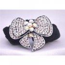 HA462  Fancy Hair Rubber Band Bow FUlly Encrusted Cubic Zircon w/ Velvet Strong Hair Band