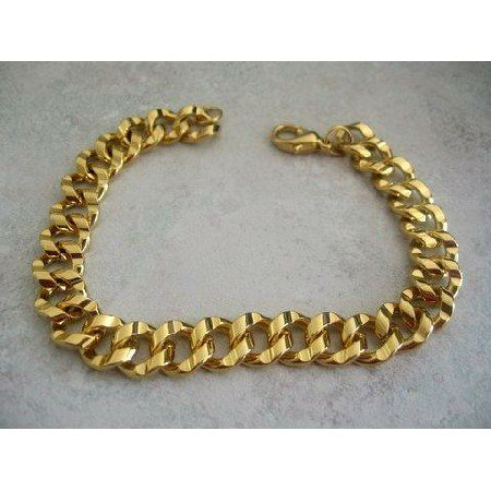 TB215  Gold Plated Fashion Foxtail Chain Bracelet 8 inches