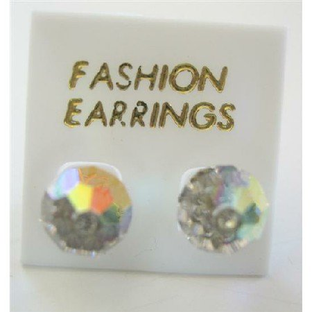 ERC393  AB Crystals Stud Earring Genuine Swarovski AB Crystals Stud Earrings