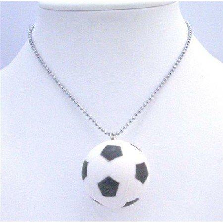 HH208  Sport Pendant Necklace Football Pendant Sport Jewelry Necklace FootBall Pendant