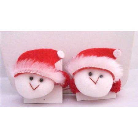 GC109  Sata Claus Ruber Hair Band Cute Addrable Soft Padded Red/White Hair Rubber