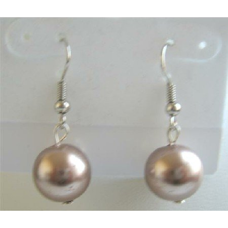 D094  Dollar Bronze Bronze Stud Earrings