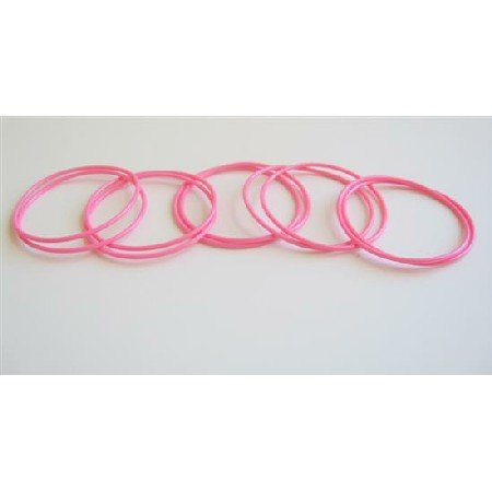 D013  Glamorous Bracelet Pink Bangles 10 Bangles Just For $1