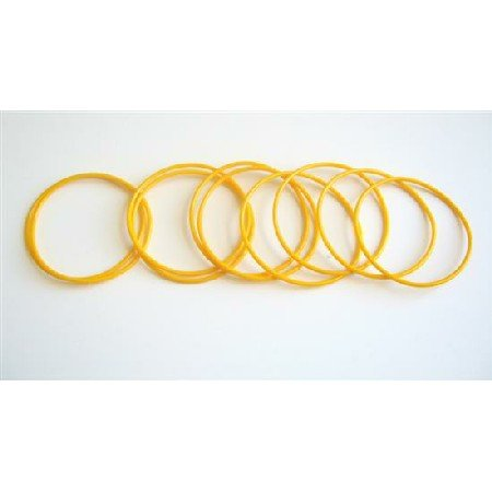 D063  Elegant Bracelet Cool Summer Yellow 10 Bangles For $1