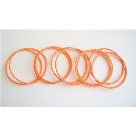 D064  Sexy Orange Bangles Set Of 10 Bangles Just For $1