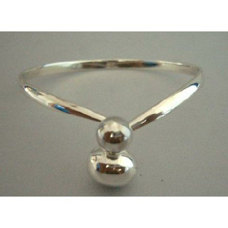 BR068  Genuine Sterling Silver 92.5 Bangle Bracelet