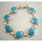 BR067  Turquoise Sterling Silver 92.5 Bracelet Genuine Sterling Silver Bracelet