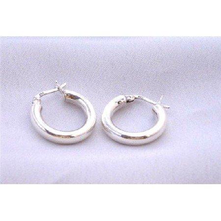 SER057  Endless Wire Sterling Silver Hoop Earrings Weight 5.2 gms