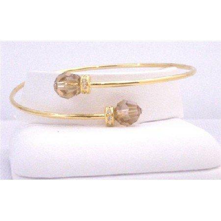 TB843  Bridal Bridemaids Gorgeous Inexpensive 18K Gold Plated Cuff Bracelet Bangle