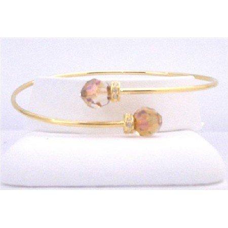 TB840  18K Gold Plated Cuff Bracelet Felexible Comfortable Bracelet