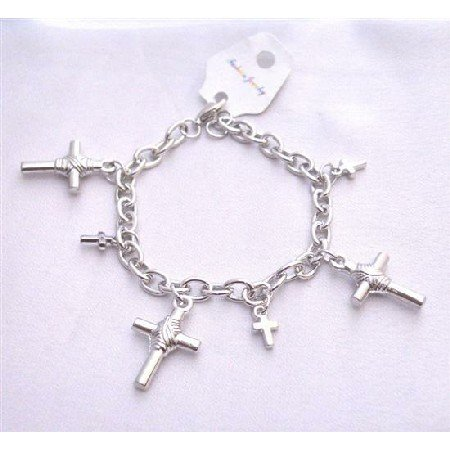 UBR194  Cross Charm Bracelet Chained Stylish Bracelet Gift Bracelet Christmas Jewelry