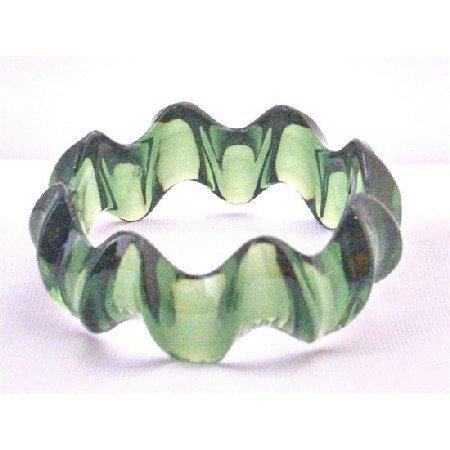 UBR187 Stylish Bangle Bacelet Affordable Dark Green Elegant Bangle Green Acrylic Fancy Bangle