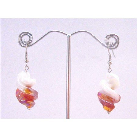UER358 Double Shaded Twisted Earrings Classy Fashionable Earrings Affordable Under $5 Earrings