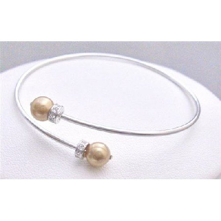 TB775 Bright Gold Jewelry Pearls Gold Pearls Bracelet Adjustable Cuff Bracelet Affordable Bracelet