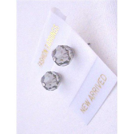 UER334  Black Diamond Inexpensive Under 5 Genuine Swarovki Stud Earrings
