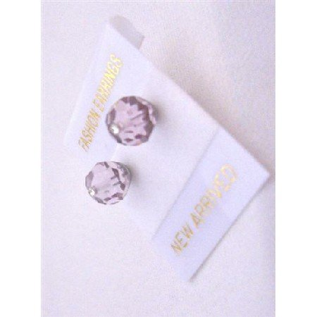 UER328 Lite Amethyst Crystals Stud Earrings Inexpensive Genuine Swarovski Crystals Earrings