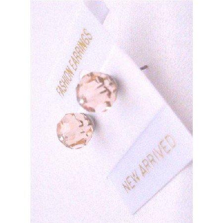 UER324  Silk Crystals Jewelry Swarovski Silk Crystals Stud Earrings Inexpensive Earrings