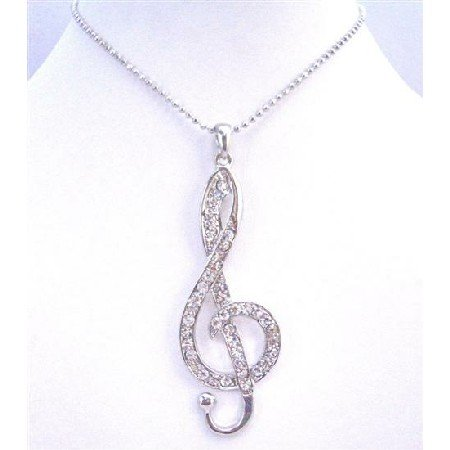 HH192  Hip Hop Pendant Musical Pendant Fully Embedded Cubic Zircon Shimmering Jewelry Necklace