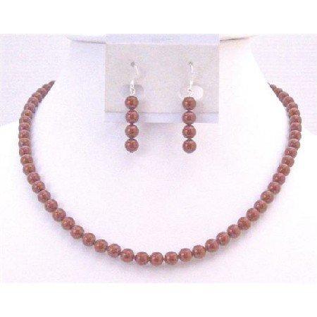 BRD913  Red Pearls Jewlery Set Wine Pearls Necklace Set Genuine Swarovski Bordeaux Pearls Set