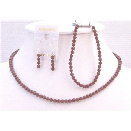 BRD917  Red Pearls Jewelry Set Romantic Jewelry Matching Jewelry For Wine Color Dress w/Bracelet