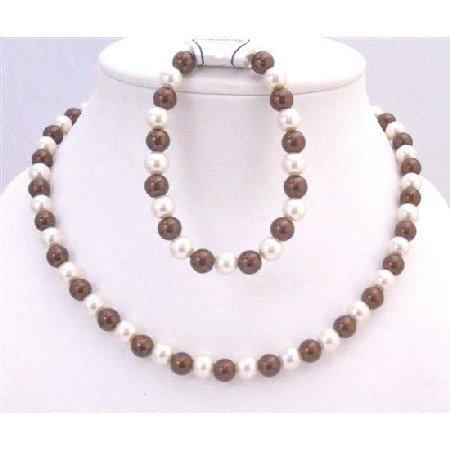 NS705 Necklace Bracelet Flower Girl Jewelry Wedding Bridemaids Under $10 Wedding Jewelry Set