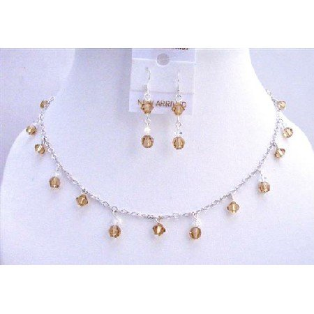 BRD693  Colorado Swarovski Crystals Jewelry Set w/ AB Crystals Bridal Jewelry Set
