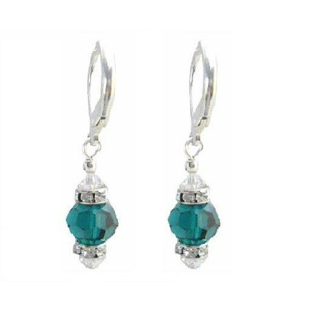 ERC637  Emerald Swarovski Crystals W/ Diamond Spacer & AB Crystals