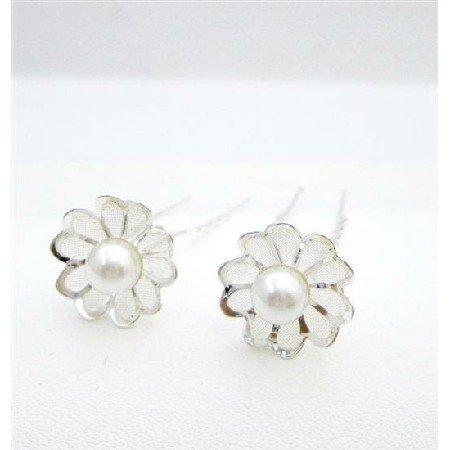 HA556  Elegant Hair Pin Flower Petal Wedding Bridal Hair Pin