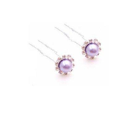 HA573  Matching Hair Pin Victoria Lilac Bridal Hair Accessories Hair Pin