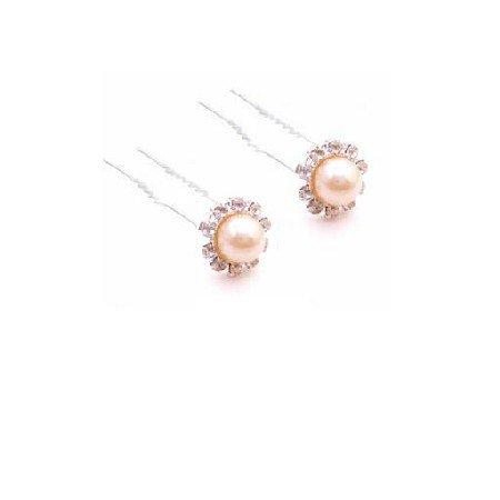 HA571  Hair Accessories Peach Hair Pin To Decorate Bridal Hair Pin