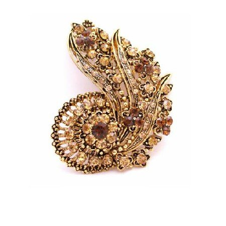 B441  Hollywood Glamour Just For You Celebrity Inspired Vintage Brooch