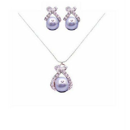 BRD058  Special Bridal Jewelry Designs For Bridesmaids Brides & In-Laws Swarovski Pearls Jewelry