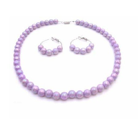 GC195  Lavender Girls Jewelry Necklace Set Affordable Necklace Set