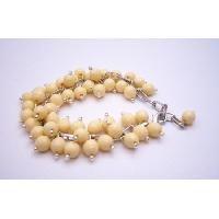 TB012  Artisan Creative Jewelry Cluster Bracelet In Canary Beads Bracelet