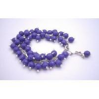 TB675  Dark Purple Multi Tiny Beads Bracelet Fancy Fashionable Bracelet