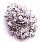 B522  Sparkling Diamante Artistically Made Fully Embedded Diamante Brooch