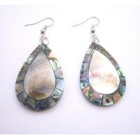 UER446  Shop Quality Jewelry In Natural Shell Abalone Teardrop Shell Earrings
