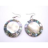 UER441  Shell Fashion Jewelry Shell Earrings Natural Shell Abalone